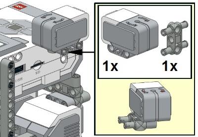 Крепление гироскопического датчика на роботе