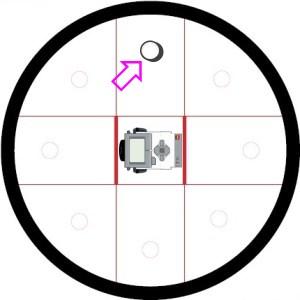 Робот вращается по часовой стрелке