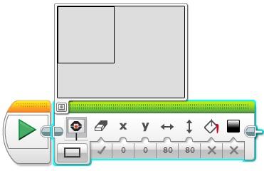 Програмний блок Екран. відображення прямокутника