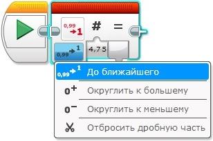 Програмний блок Округлення