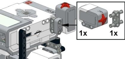 Установка датчика торкання на робота